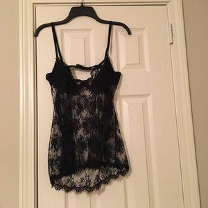 NWT Victoria's Secret Black Lace Lingerie 36C